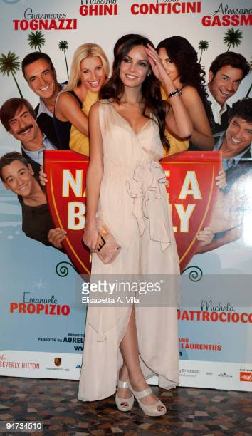 Actress Michela Quattrociocche attends the premiere of ''Natale A Beverly Hills'' at the Warner Moderno Cinema on December 17 2009 in Rome Italy