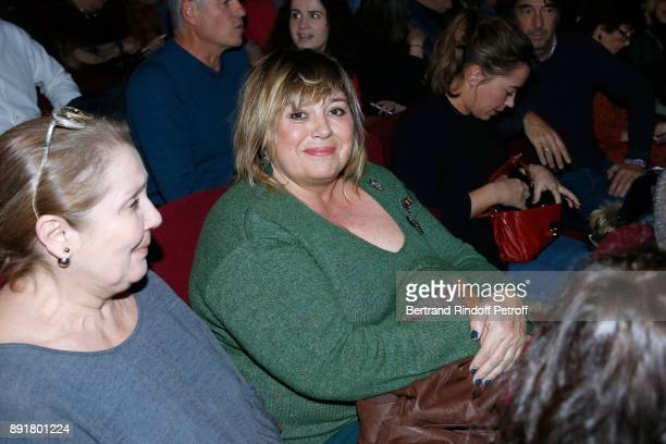 Actress Michele Bernier attends Fred Testot performs in his One Man Show 'Presque Seul' at Theatre de la Tour Eiffel on December 13 2017 in Paris...
