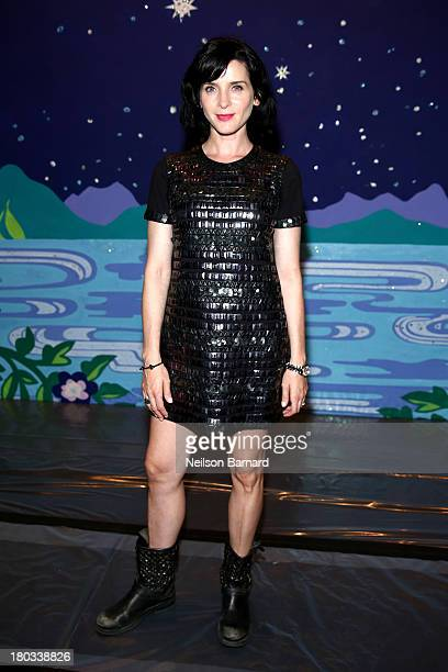 Actress Michele Hicks attends the Anna Sui fashion show during MercedesBenz Fashion Week Spring 2014 at The Theatre at Lincoln Center on September 11...