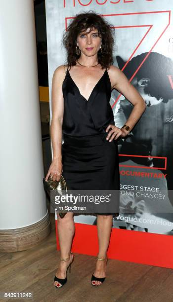 Actress Michele Hicks attends the premiere of House of Z hosted by Brooks Brothers with The Cinema Society at Crosby Street Hotel on September 7 2017...