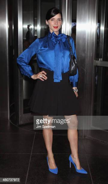 Actress Michele Hicks attends the Yves Saint Laurent Couture Palette The Cinema Society premiere of The Weinstein Company's Yves Saint Laurent at...