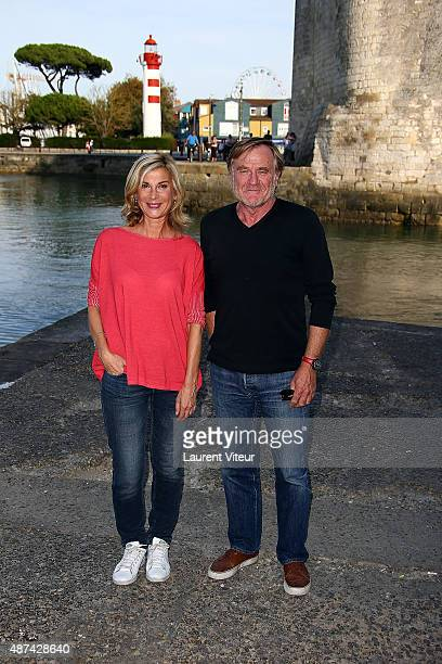 Actress Michele Laroque and President of Festival Quentin Raspail attend the 17th Festival of TV Fiction At La Rochelle on September 9 2015 in La...