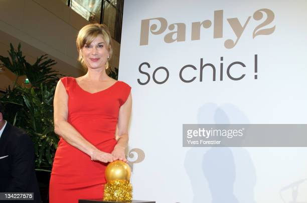 Actress Michele Laroque attends The Parly 2 Christmas Lights Switch On at The Parly 2 Shopping Centre on November 28 2011 in Le Chesnay France
