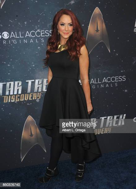 Actress Michele Louise Specht arrives for the Premiere Of CBS's 'Star Trek Discovery' held at The Cinerama Dome on September 19 2017 in Los Angeles...