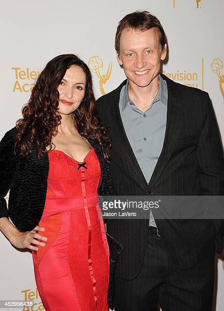 Actress Michele Maika and actor Alec Berg attend the Television Academy Producers Peer Group nominee reception for the 66th Emmy Awards at The London...