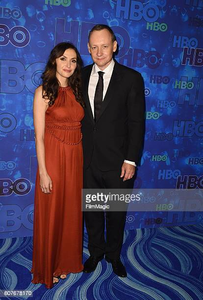 Actress Michele Maika and writer Alec Berg attend HBO's Official 2016 Emmy After Party at The Plaza at the Pacific Design Center on September 18 2016...