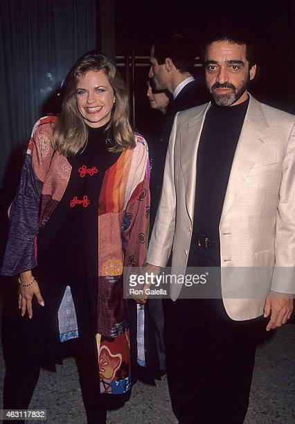 Actress Michele Scarabelli and guest attend the Avalon Century City Premiere on October 3 1990 at the Cineplex Odeon Century Plaza Cinemas in Century...