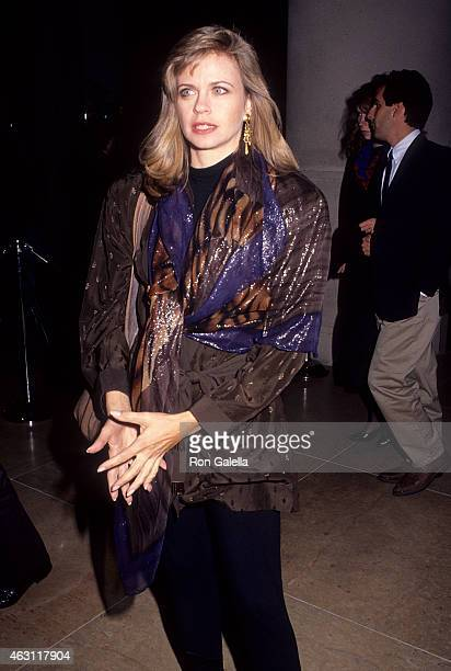 Actress Michele Scarabelli attends the Misery Premiere Party on November 29 1990 at the Beverly Hilton Hotel in Beverly Hills California