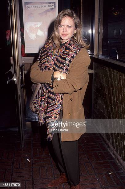 Actress Michele Scarabelli attends the Screening of the NBC MadeforTelevision Movie Decoration Day on November 27 1990 at the WGA Theatre in Beverly...