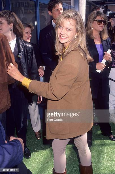 Actress Michele Scarabelli attends the Teenage Mutant Ninja Turtles II The Secret of the Ooze Universal City Premiere on March 17 1991 at the...
