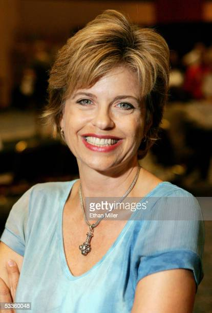 Actress Michele Scarabelli poses at the Star Trek convention at the Las Vegas Hilton August 11 2005 in Las Vegas Nevada