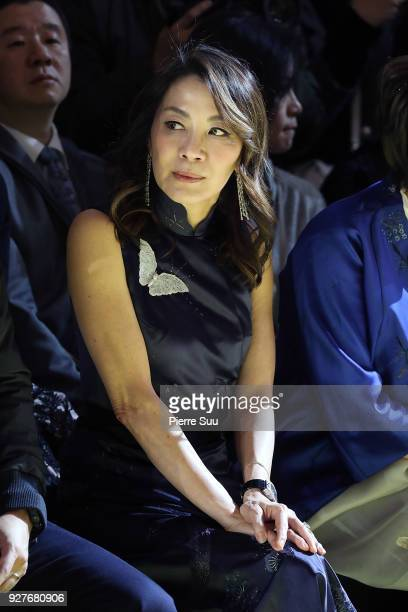 Actress Michele Yeoh attends the Shiatzy Chen show as part of the Paris Fashion Week Womenswear Fall/Winter 2018/2019 on March 5 2018 in Paris France