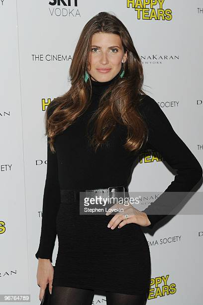 Actress Michelle Alves attends a screening of Happy Tears hosted by the Cinema Society and Donna Karan at The Museum of Modern Art on February 16...