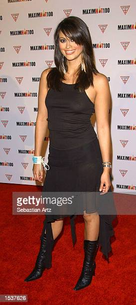 Actress Michelle Beaney arrives at Maxim's Hot100 party April 25 2002 in Los Angeles CA