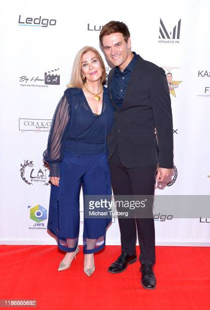 Actress Michelle Beaulieu and producer Kash Hovey attend the Kash Hovey and Friends Film Block at Film Fest LA at Regal Cinemas LA LIVE Stadium 14 on...