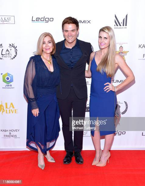 Actress Michelle Beaulieu producer Kash Hovey and director Kathy Kolla attend the Kash Hovey and Friends Film Block at Film Fest LA at Regal Cinemas...
