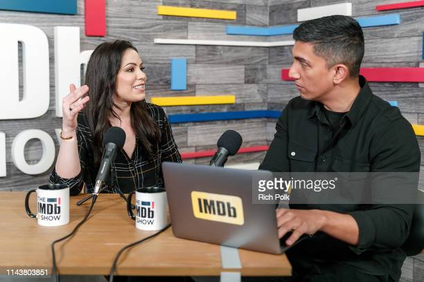 Actress Michelle Borth and host Tim Kash on the set of 'The IMDb Show' LIVE on Twitch on April 17, 2019 in Studio City, California. This episode of...