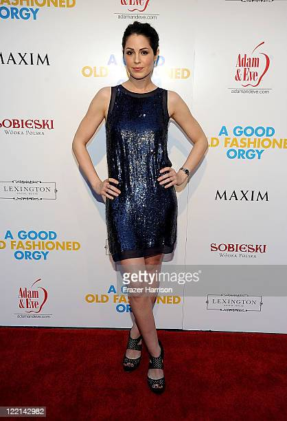 Actress Michelle Borth attends the screening of Samuel Goldwyn Films' A Good Old Fashioned Orgy at Arclight Cinemas on August 25 2011 in Los Angeles...