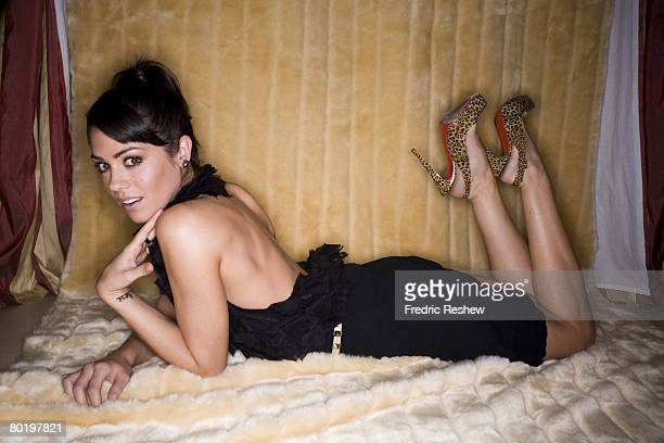 Actress Michelle Borth poses at a portrait session in Los Angeles, CA. Published image.