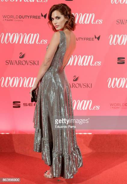 Actress Michelle Calvo attends the 'Woman 25th anniversary' photocall at Madrid Casino on October 18 2017 in Madrid Spain