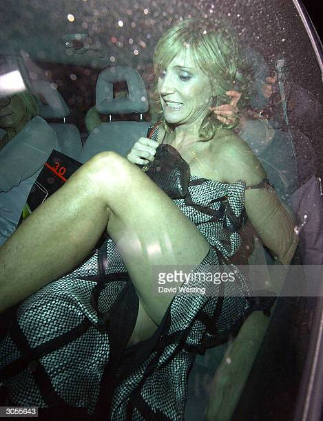 Actress Michelle Collins attends the Tio Pepe/Carlton London Restaurant Awards 2004 at The Great Room Le Meridien Grosvenor House Park Lane on March...
