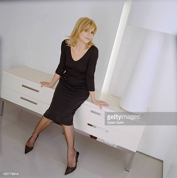 Actress Michelle Collins poses for a portrait shoot in London UK