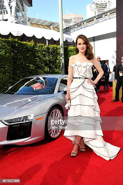 Actress Michelle Dockery and Audi at The 68th Emmy Awards on September 18 2016 in Los Angeles California