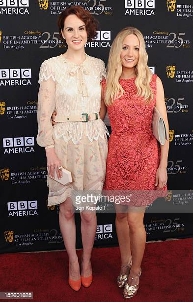 Actress Michelle Dockery and Joanne Froggatt arrive at the BAFTA Los Angeles TV Tea 2012 Presented By BBC America at The London Hotel on September...