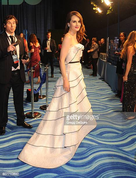 Actress Michelle Dockery arrives at HBO's Post Emmy Awards Reception at The Plaza at the Pacific Design Center on September 18, 2016 in Los Angeles,...