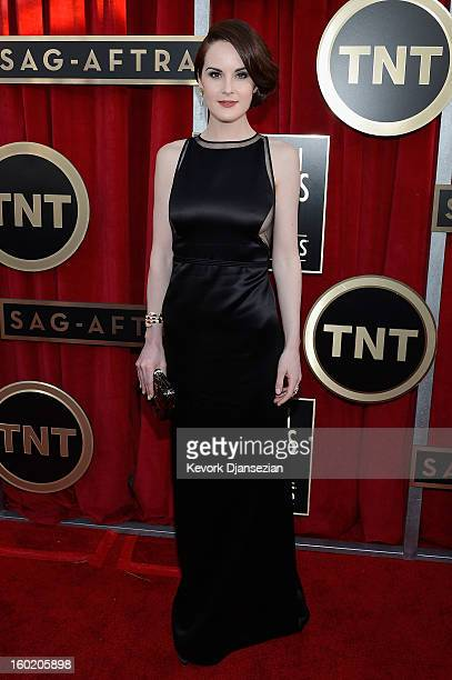 Actress Michelle Dockery arrives at the 19th Annual Screen Actors Guild Awards held at The Shrine Auditorium on January 27 2013 in Los Angeles...