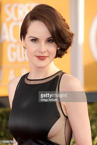 Actress Michelle Dockery arrives at the 19th Annual Screen Actors Guild Awards at The Shrine Auditorium on January 27 2013 in Los Angeles California