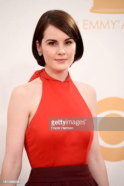 Actress Michelle Dockery arrives at the 65th Annual Primetime Emmy Awards held at Nokia Theatre L.A. Live on September 22, 2013 in Los Angeles,...