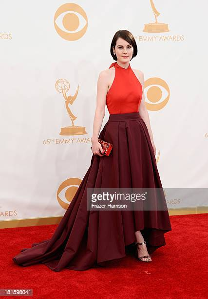 Actress Michelle Dockery arrives at the 65th Annual Primetime Emmy Awards held at Nokia Theatre LA Live on September 22 2013 in Los Angeles California