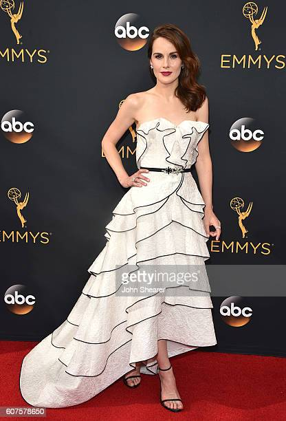 Actress Michelle Dockery arrives at the 68th Annual Primetime Emmy Awards at Microsoft Theater on September 18 2016 in Los Angeles California