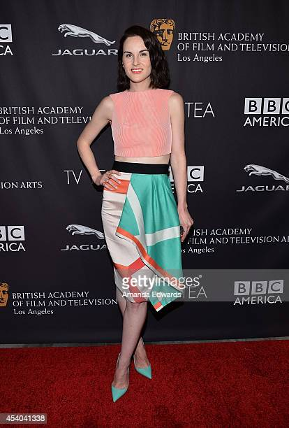 Actress Michelle Dockery arrives at the BAFTA Los Angeles TV Tea presented by BBC and Jaguar at SLS Hotel on August 23, 2014 in Beverly Hills,...