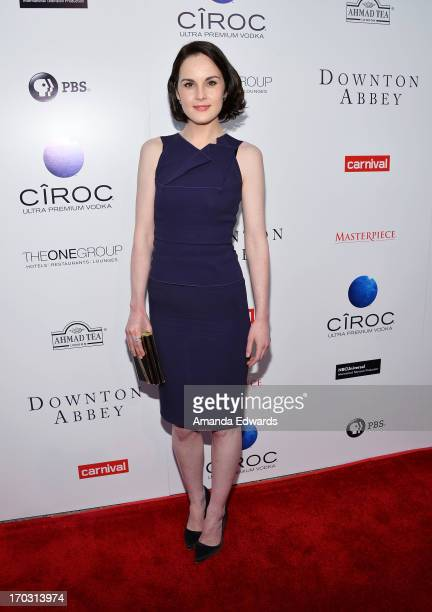 Actress Michelle Dockery arrives at the Downton Abbey talent panel QA at the Leonard H Goldenson Theatre on June 10 2013 in North Hollywood California