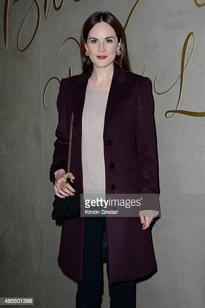 Actress Michelle Dockery arrives for the premiere of the Burberry festive film at Burberry on November 3 2015 in London England