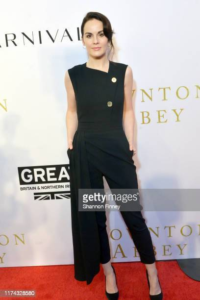 Actress Michelle Dockery at the Downton Abbey Washington DC screening at the British Ambassador's Residence on September 12 2019 in Washington DC