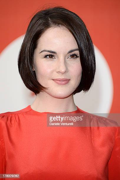 Actress Michelle Dockery attends 'Miu Miu Women's Tale' Premiere during the 70th Venice International Film Festival at Sala Darsena on August 29 2013...