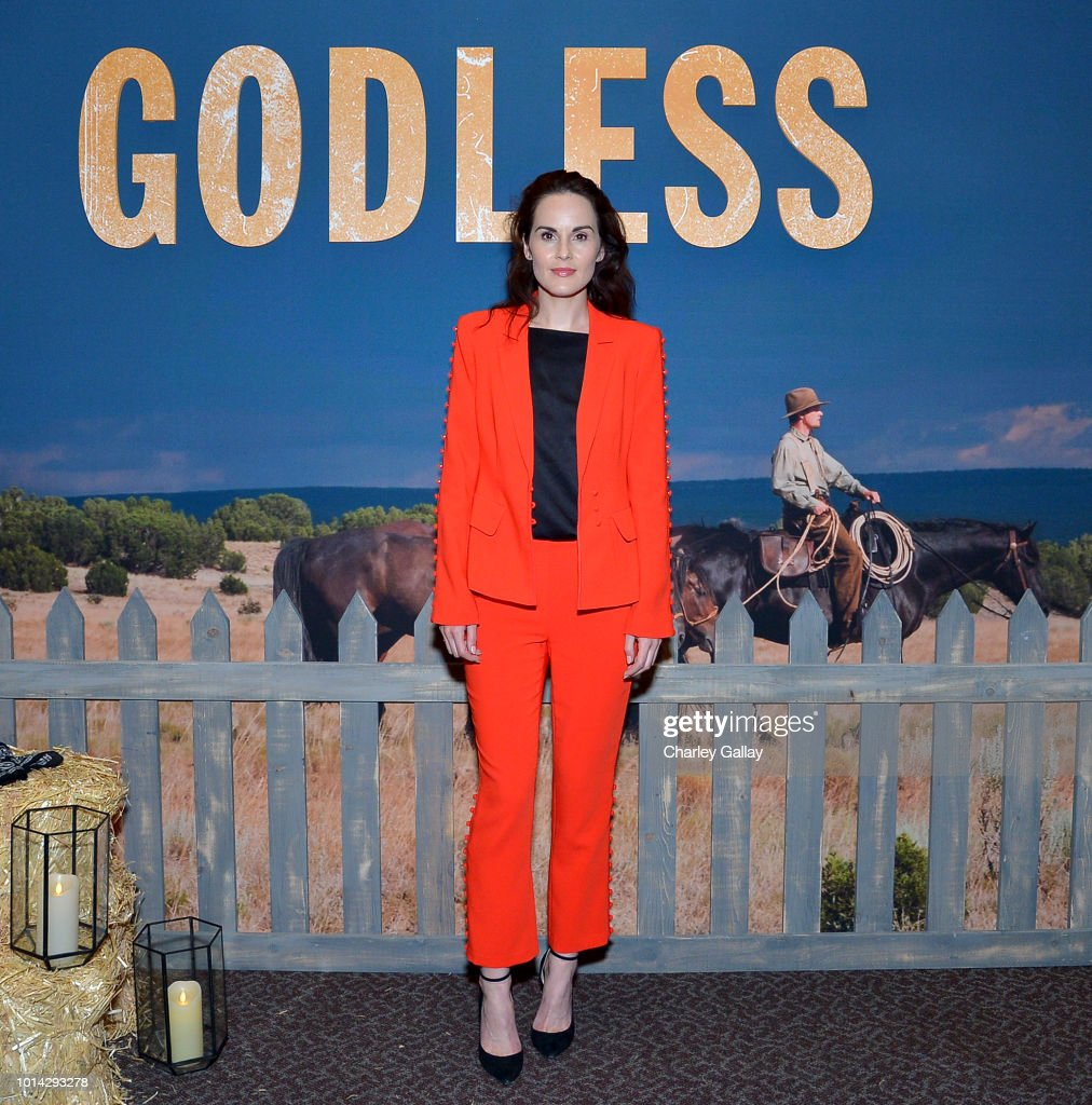Actress Michelle Dockery attends Netflix Celebrates 12 Emmy Nominations For 'Godless' at DGA Theater on August 9, 2018 in Los Angeles, California.