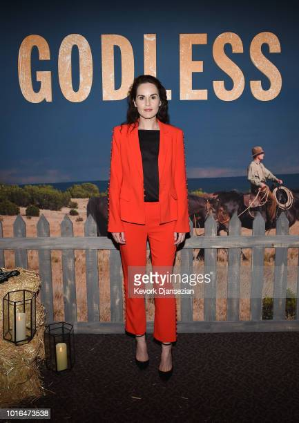 Actress Michelle Dockery attends Netflix Celebrates 12 Emmy Nominations For 'Godless' at DGA Theater on August 9 2018 in Los Angeles California