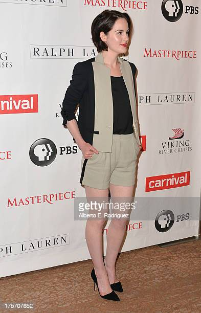 Actress Michelle Dockery attends PBS History's 'Downton Abbey' Season 4 Photo Call at The Beverly Hilton Hotel on August 6 2013 in Beverly Hills...