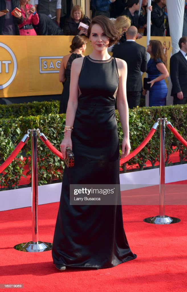 Actress Michelle Dockery attends the 19th Annual Screen Actors Guild Awards at The Shrine Auditorium on January 27, 2013 in Los Angeles, California. (Photo by Larry Busacca/WireImage) 23116_018_0564.JPG