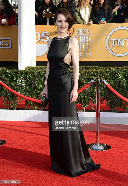 Actress Michelle Dockery attends the 19th Annual Screen Actors Guild Awards at The Shrine Auditorium on January 27 2013 in Los Angeles California