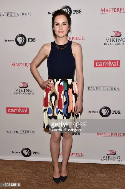 """Actress Michelle Dockery attends the 2014 Summer TCA Tour """"Downton Abbey"""" Season 5 photocall at The Beverly Hilton Hotel on July 22, 2014 in Beverly..."""