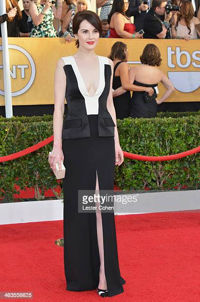 Actress Michelle Dockery attends the 20th Annual Screen Actors Guild Awards at The Shrine Auditorium on January 18 2014 in Los Angeles California