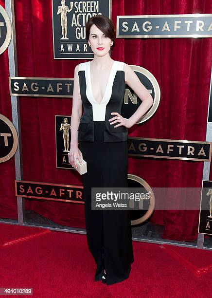 Actress Michelle Dockery attends the 20th Annual Screen Actors Guild Awards at The Shrine Auditorium on January 18, 2014 in Los Angeles, California.