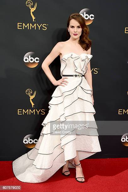 Actress Michelle Dockery attends the 68th Annual Primetime Emmy Awards at Microsoft Theater on September 18, 2016 in Los Angeles, California.