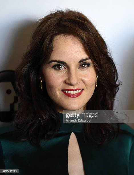 Actress Michelle Dockery attends the 'Downton Abbey' cast photo call at The Beverly Hilton Hotel on August 1 2015 in Beverly Hills California