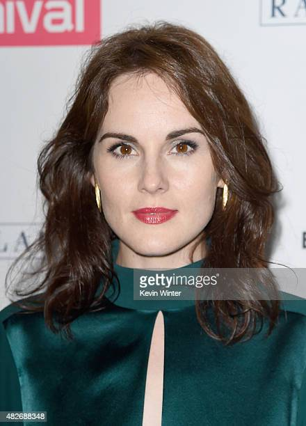 Actress Michelle Dockery attends the 'Downton Abbey' cast photo call during the 2015 Summer TCA Tour at The Beverly Hilton Hotel on August 1, 2015 in...